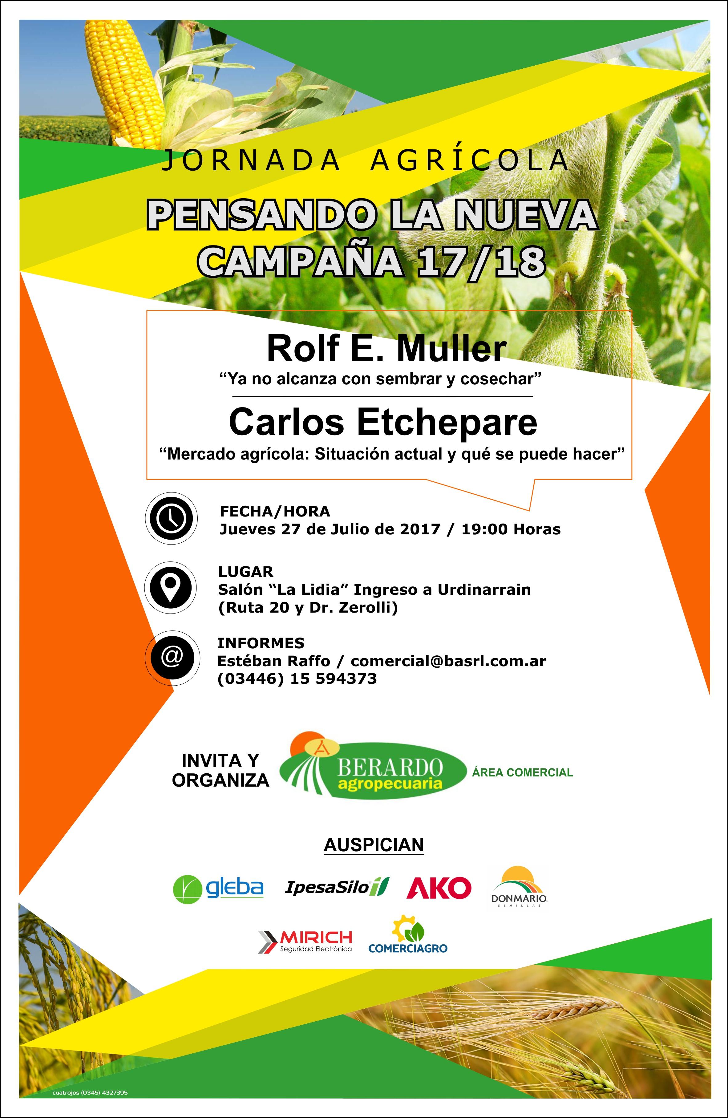 Jornada Agrícola: Pensando La Nueva Campaña 17/18